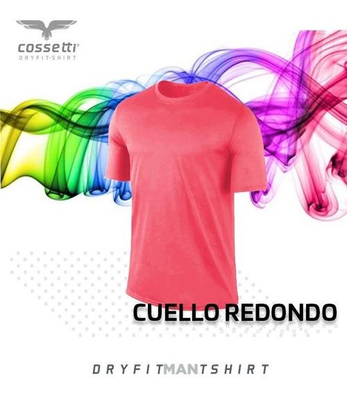 Playera Cuello Redondo Cossetti Corta Dry Fit Neón Xl 2xl