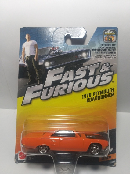 Fast & Furious Plymouth Roadrunner 1970 2/32 Escala 1/55