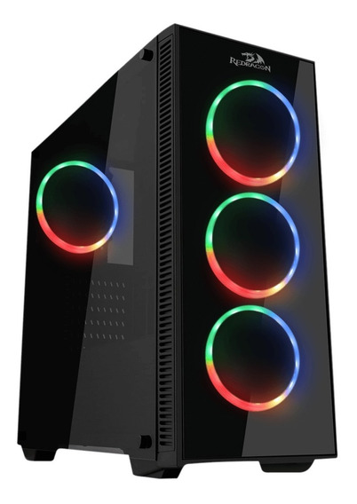 Gabinete Pc Gamer Redragon Sideswipe Gc-601 4 Fan Rgb+remoto
