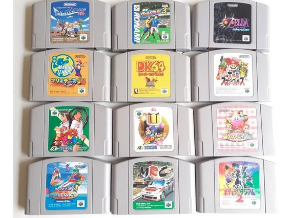 12 Jogos Nintendo 64 Originais Japones Frete Gratis 12x S/j