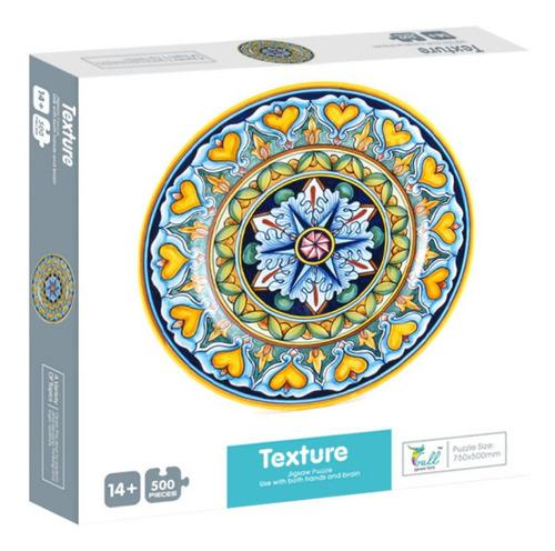 Imagen 1 de 4 de Rompecabezas Mandala Texturas, 500 Piezas