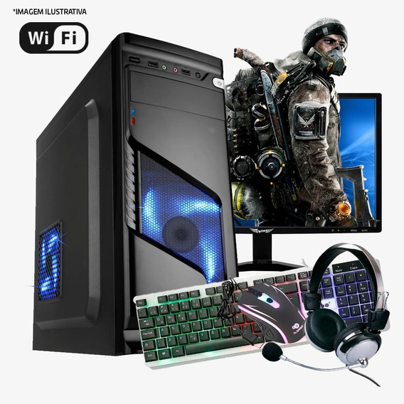 Pc Gamer I3 4ª, 8gb Ram, Hd Ssd 480gb, Gtx550ti 1gb Completo