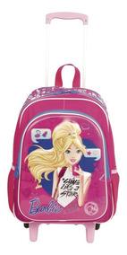 Mochilete Infantil Barbie 17x 64749 G Rosa