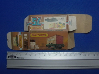 Matchbox Lesney Container Flat N° 25 Solo Caja Original