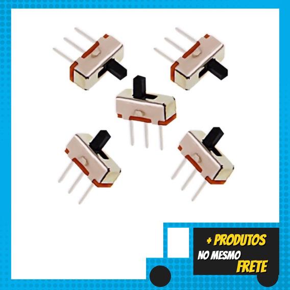 5 Mini Chaves Liga Desliga Switch 1p2t Spdt 3 Pin