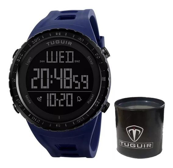 Relógio Masculino Tuguir 1246 Militar Digital Esportivo Prova D
