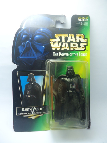 Star Wars Boneco Darth Vader Potf Power Of The Force 1/18