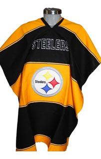 Jorongo Steelers Nfl Mexicano Artesanal Bordado