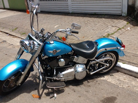 Harley Davidson Fat Boy 2011 1600cc Azul Com Scream In Eagle