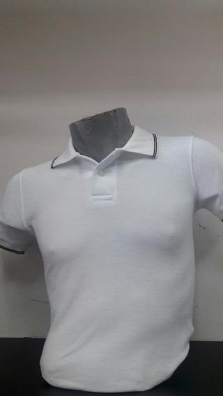 Playera Tipo Polo Para Caballero Color Blanco