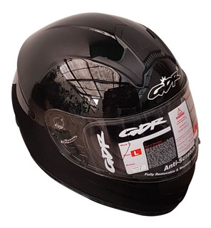 Casco Gdr Modelo Ff858 Color Negro