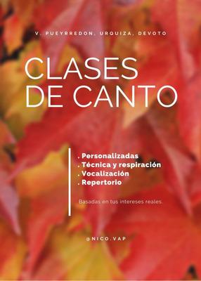 Clases De Canto Villa Pueyrredón, Urquiza, Devoto, Agronomía
