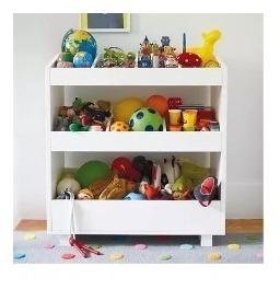 Criado, Baú, Estante, Organizador Brinquedos Em Mdf Branco