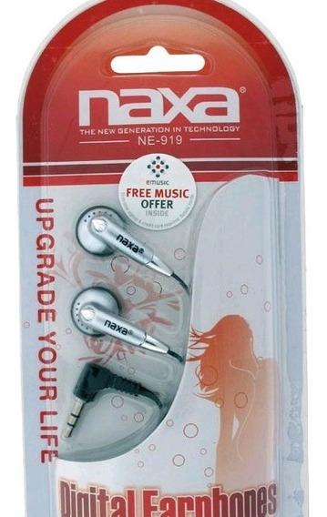 Audifono Naxa Mp3 Mp4 En Empaque Plug 3.5mm 3v