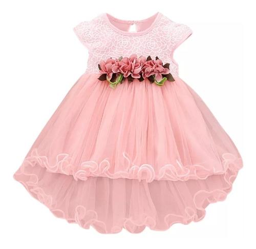 Vestido Elegante Para Fiesta O Bautizo Niña - Bebé