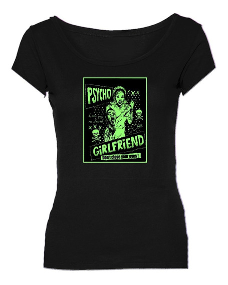 Remeras Psycho Girlfriend Pinup Retro Zombie *mr Korneforos*