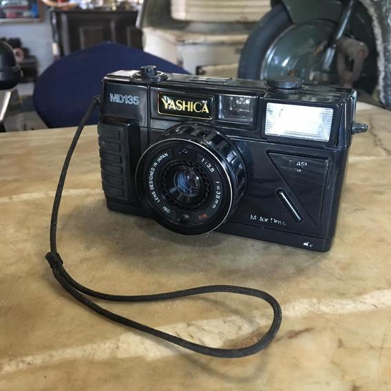 Câmera Fotográfica Yashica Md 135 Antiga Ñ Canon Nikon 1505