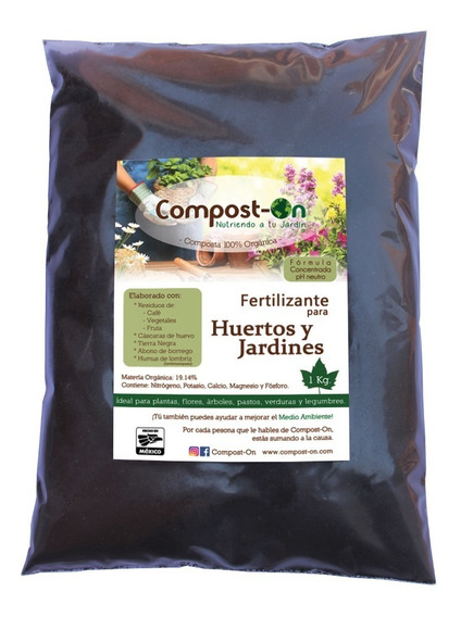 Composta Orgánica Compost-on 1 Kg Humus Lombriz