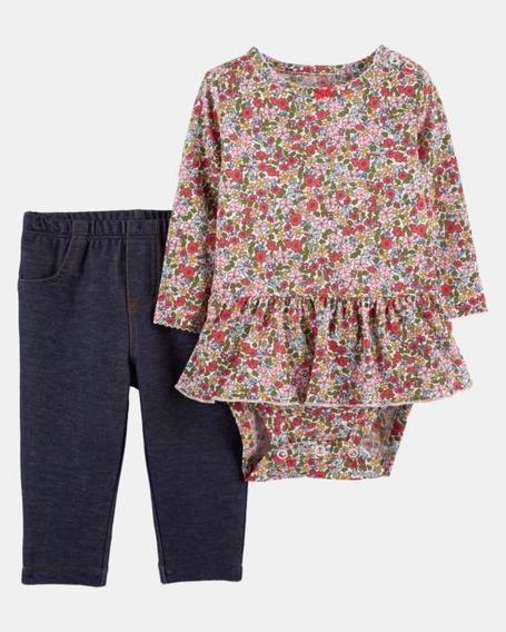 Carter´s Conjunto Body Calça Menina 2 Pç Original