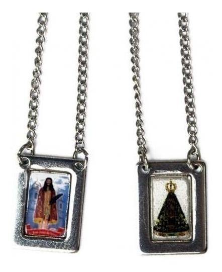 Escapulário Inox Nossa Senhora Aparecida Bom Jesus Iguapé