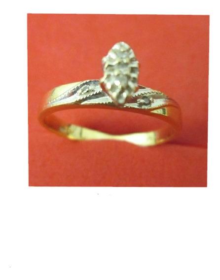 Anillo Compromiso Dama Oro 10 Kilates Diamantes Naturales.