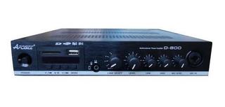 Amplificador Musica Funcional Apogee D-800 100v Bluetooth