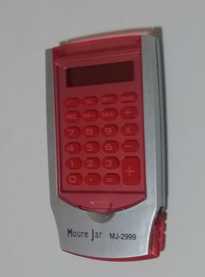 Calculadora Pequena Com 8 Digitos Vermelha