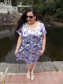 Vestido Plus Size, Vestido Curto Com Mangas Xg, Moda Plus