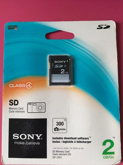 Memory Card Sony Sd 2gb - Original - Novo - Lacrado