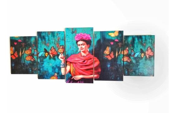 Cuadro Frida Kahlo Arte Moderno Decoracion Triptico Poliptico