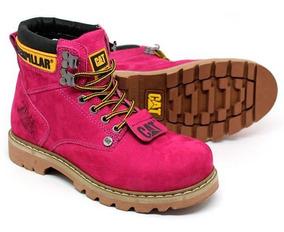 Bota Caterpillar Second Shift Boot Rosa/pink Feminina