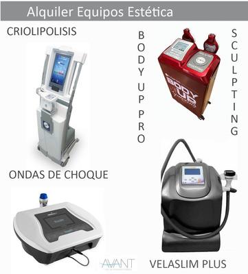 Alquiler De Velaslim Plus, Body Up Pro, Crio Y Ondas Choque