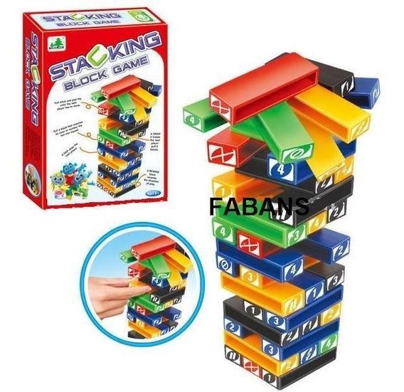 Jenga De Colores Torre 45 Piezas Plastico Juego Juguete Niño