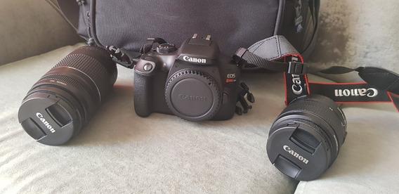 Câmera Canon Rebel T6 Com Lente Ef-s 18-55mm + Ef 50mm