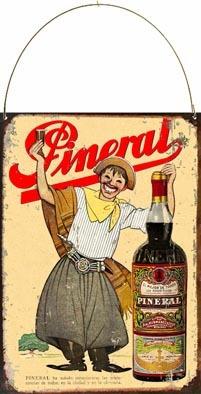 Cartel Chapa Publicidad Antigua 1935 Aperitivo Pineral L578