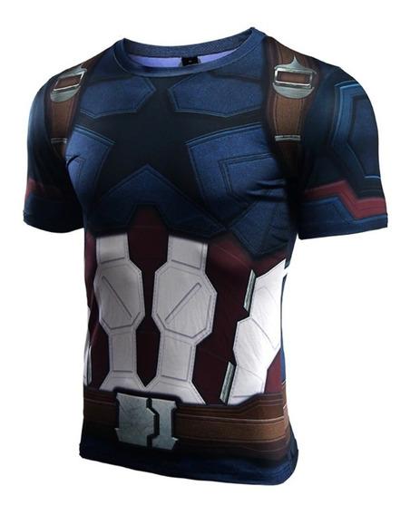 Playera Capitán América /superman Crossfit Excelente Calidad