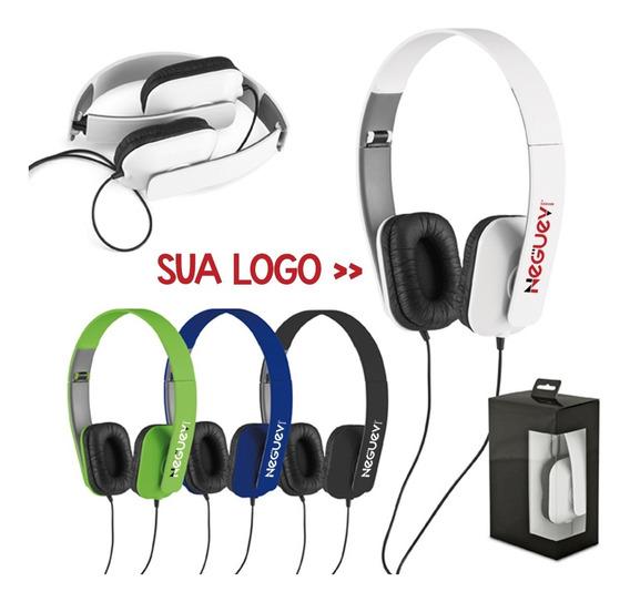 Fone De Ouvido Headphone Dobrável Personalizado - Kit 10