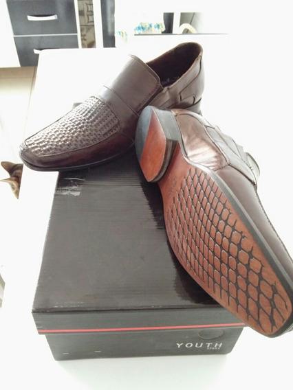 Sapato Social Em Couro Legítimo,tam.35