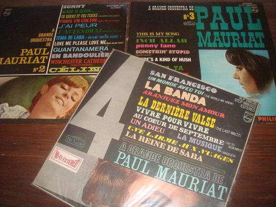 Paul Mauriat, Vol 2, 3, 4, Stereo, Rara Conservação Excelen