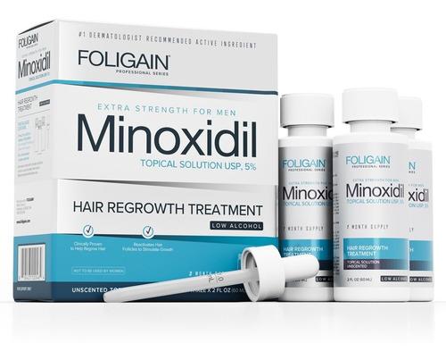 Imagen 1 de 3 de Men's Foligain 5% Formula Bajo Alcohol 3 Meses