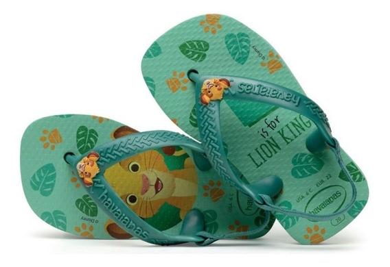 Chinelo Infantil Havaianas New Baby Disney Classics Rei Leão