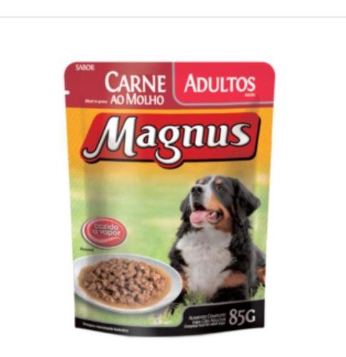 Imagem 1 de 1 de Kit 18 - Patê Magnus Sachê Premium Cães Adultos Carne 85g