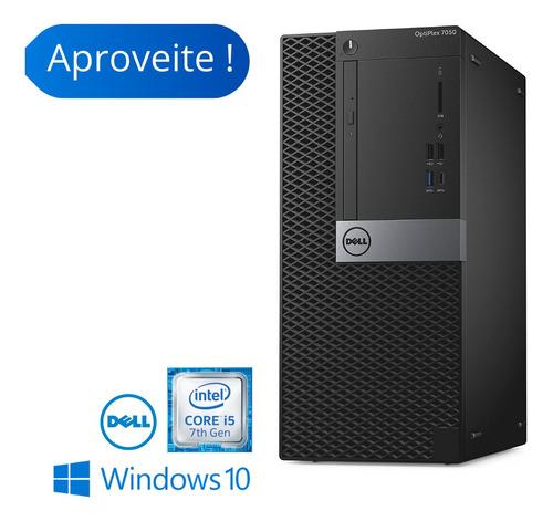 Imagem 1 de 3 de Computador Torre Dell 7050 I5 7th 8gb Hd 500 Windows 10