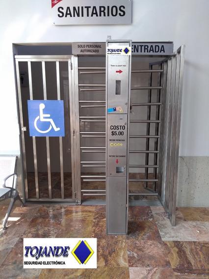 Puerta Giratoria Con Cobro Y Puerta De Minusvalidos Tojande