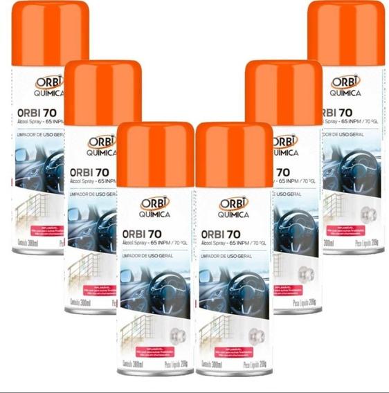6 X Álcool 70% Spray Orbi Antisséptico Certificado Anvisa