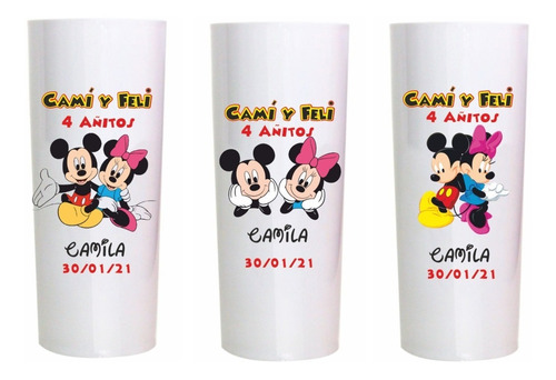 Vasos Personalizados Infantiles .minnie ,mickey