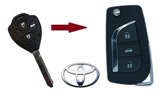 Chave Canivete Completa Toyota Corolla (2010-2014)