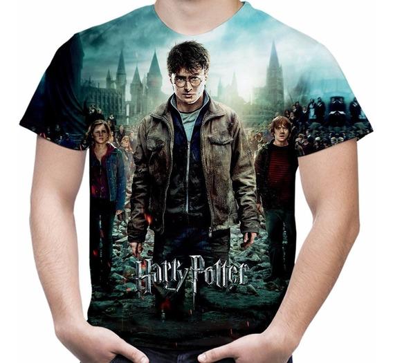 Camiseta Filme Harry Potter Masculina Estampa Total Md03