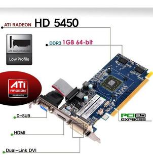 Tarjeta De Gráficos Ati Amd Radeon Hd5450 De 1 Gb