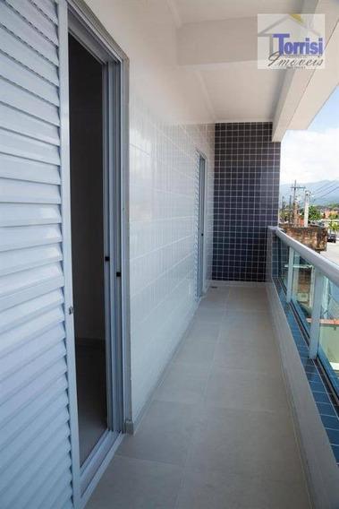 Casa Sobreposta Alta Em Praia Grande, 02 Dormitórios Com Sacada, Samambaia, Ca0163 - Ca0163